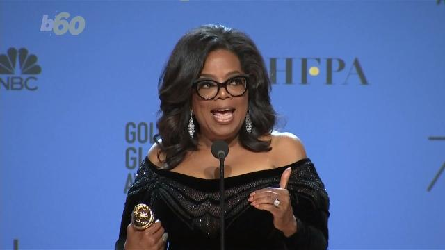 Oprah uses Golden Globes acceptance speech to highlight #MeToo
